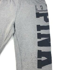 PINK Victoria's Secret gray cropped sweatpants